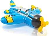 Intex opblaasbare vliegtuig met waterpistool blauw (132 cm)