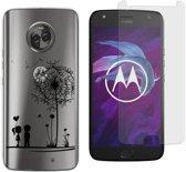 MP Case screenprotector + Gratis Love back cover voor Motorola Moto X4
