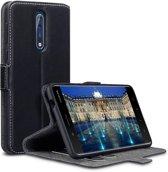 Qubits slim wallet zwart hoes Nokia 8