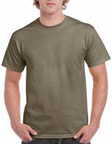 Kaki groene katoenen shirt voor volwassenen 2XL (44/56)