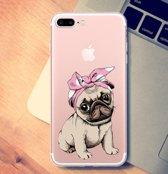 Apple Iphone 7Plus / 8Plus Siliconen hoesje (schattig hondje)