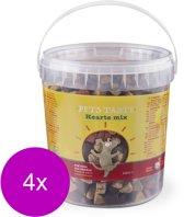 Pets Taste Hearts Mix Kip&Rund&Lam - Hondensnacks - 4 x 450 g