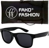 Fako Fashion® - Kinder Zonnebril - Wayfarer - DLX - Zwart