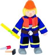 Goki Houten buigpopje bouwvakker ii 11cm