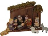 Kinder kerststal met 10 kerststal figuren 25 cm - kinder kerststallen