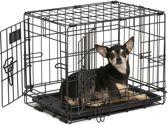 Hondenbench 1 Deur - Zwart - 47x30x37 CM - inclusief bijpassend vetbed