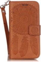 Shop4 - iPhone 6 Plus / 6s Plus Hoesje - Wallet Case Dromenvanger Bruin