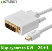 Mini Displayport DP to DVI 24+1 Cable Adapter 1.5M Wit