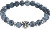 Fako Bijoux® - Buddha Armband - Uiltje Ring - Grijs