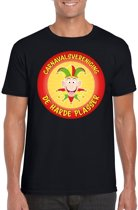 Carnavalsvereniging De Harde Plasser fun t-shirt heren zwart - Limburg carnaval verkleedkleding XL