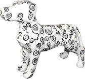 Deense Dog Big Jules XL decoratief object | Hond - Wit met zwarte krulletjes | Pomme pidou