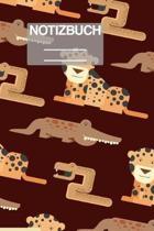 Notizbuch A5 Muster Zeichnung Tiger Krokodil Schlange: - 111 Seiten - EXTRA Kalender 2020 - Einzigartig - Kariert - Karo - Raster - Geschenk - Geschen