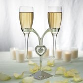 Weddingstar Champagneglazen Clear Glass Heart Stand
