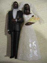 taarttopper bruidspaar donker