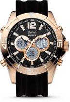 Colori Urban 5-CLD079 - Horloge - siliconen band - zwart - 47 mm