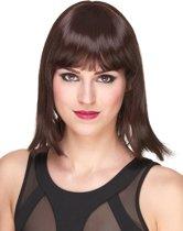 Luxe donkerbruine pruik voor vrouwen - Verkleedpruik