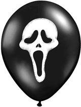 Halloween Ballonnen Scream 30cm 6 stuks