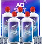 AOSEPT PLUS [5x 360ml + 5 lenshouders] - multipack - lenzenvloeistof