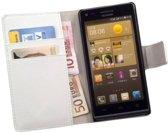 HC Bookcase Wit Flip Wallet Telefoonhoesje Huawei Ascend G6