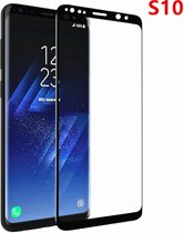 Samsung Glazen screenprotector Samsung Galaxy S10 3D volledig scherm bedekt explosieveilige gehard glas Screen beschermende Glas Cover Film zwart