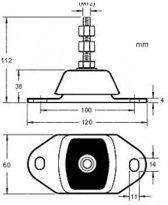 Motor bevestiging max 55kg breedte 120mm, hoogte 112mm, schroefafstand 100mm (GS38103)