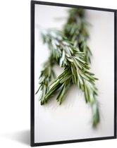Foto in lijst - Close up twijgen van rozemarijn fotolijst zwart 40x60 cm - Poster in lijst (Wanddecoratie woonkamer / slaapkamer)