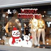 70 CM Christmas Snow Man glas Stickers Decor Room verwijderbare papier