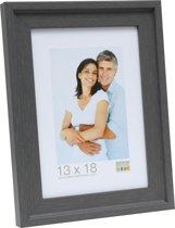 Deknudt Frames Fotokader grijs met opstaand randje, schilderlook fotomaat 15x20 cm