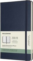 Moleskine - 18 Months - Weekly - 2018/2019 - Large - sapphire blue- Hard Cover