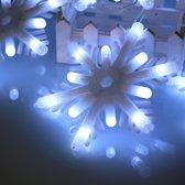2.5m Waterbestendig Modellering Lichtslingers, 5 LEDs Melkachtig wit Kleine sneeuwvlok zonder eindverbinding en controller, EU-stekker, AC 220V (wit licht)