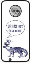 Moto G6 Hardcase Hoesje Life is too Short