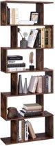 MIRA - Boekenkast | Kubus |6 Compartimenten | Scheidingswand | Opbergrek | Industrieel |Vintage