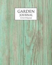 Garden Journal - OLD WOOD: 120 Page garden planner and journal - 8x10 inch