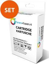 CC654AE zwart , CC656AE kleur 1x Set met 2x alternatief - compatible patroon voor HP 901XL (1xBK+1x3kleur) Toners-kopen_nl