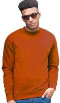Oranje sweater voor heren Just Hoods L