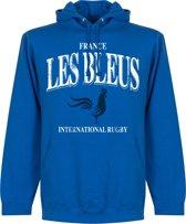 Frankrijk Les Bleus Rugby Hoodie - Blauw - M