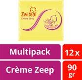 Zwitsal Baby Crème Zeep - 12 x 90 gr - Voordeelverpakking
