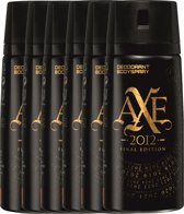 Axe 2012 Final Edition For Men - 6 x 150 ml - Deodorant Spray - Voordeelverpakking