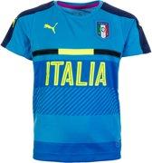 Puma FIGC Italia Training Jersey Junior Sportshirt - Maat 152  - Unisex - blauw/geel
