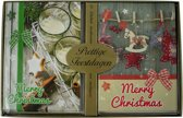 Kerstkaarten met nieuwjaars wens tafereel (5x10) 50 kaarten