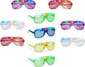 relaxdays 10 x partybril LED, feestbril voor carnaval + festivals leuke bril knippert