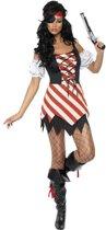 Dames piraten kostuum | Jurkje, bandana, ooglapje | Piratenkleding maat S (36/38)