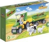 BanBao Eco Boerderij Tractor met Aanhanger - 8586