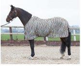 Vliegendeken mesh standaard met singels, zebra plume 105cm