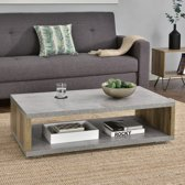 [en.casa]® Moderne salontafel - Bolton - betonlook