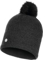 Buff Knitted & Polar Dames Muts - Black - One Size