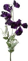 Viv! Home Luxuries Lathyrus - zijden bloem - donker paars - topkwaliteit zijde bloemen