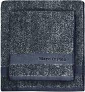 Marc O'Polo Melange  Washandje - 16x22 - Marine/Silver