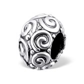 Spiral bead   Bedel   Sterling 925 Silver (Echt zilver)   Past op vele merken   Nikkelvrij