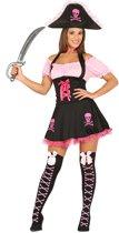 Roze en zwart piratenkostuum voor vrouwen - Volwassenen kostuums